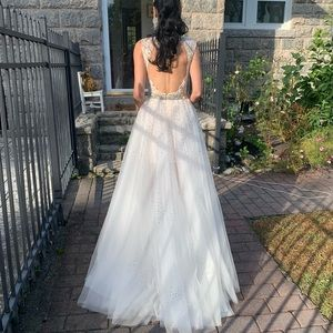 Jovani gown one-of-kind tulle skirt and lace